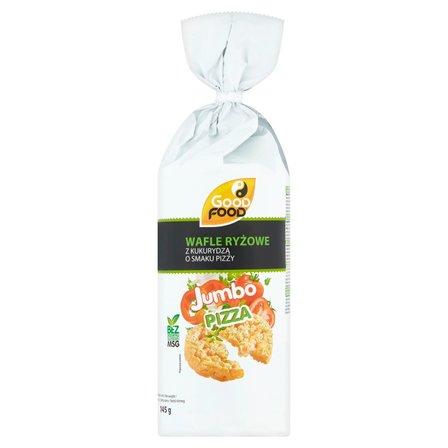 GOOD FOOD Jumbo Wafle ryżowe z kukurydzą o smaku pizzy (12 sztuk) (1)