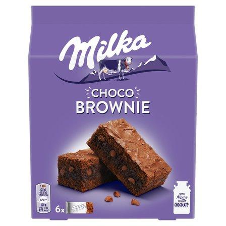 MILKA Choco Brownie Ciastka z czekoladą i kawałkami czekolady mlecznej (6 x 25 g) (1)