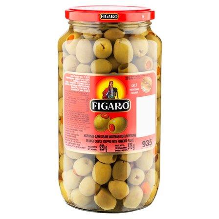 FIGARO Hiszpańskie oliwki zielone nadziewane pastą paprykową (1)