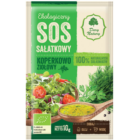 DARY NATURY Ekologiczny sos sałatkowy koperkowo-ziołowy (1)