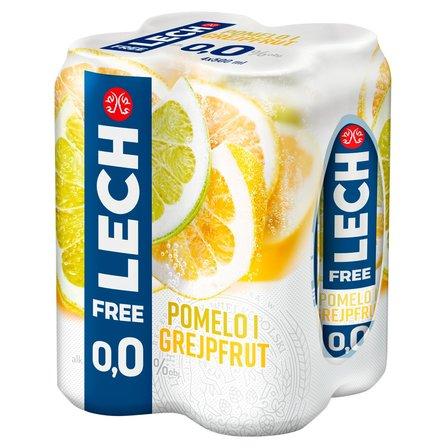 LECH Free Piwo bezalkoholowe pomelo i grejpfrut (4 x 500 ml) (1)