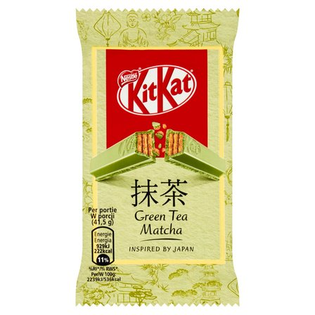KitKat Green Tee Matcha Paluszek waflowy w białej czekoladzie (1)