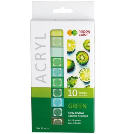 HAPPY COLOR Farby akrylowe odcienie zielonego (1)