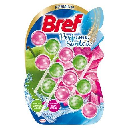 BREF WC Perfume Switch Zawieszka myjąco-zapachowa do muszli WC zielone jabłko-lilia wodna (3 x 50 g) (1)