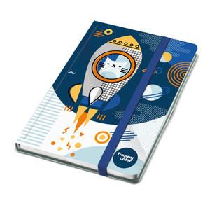 HAPPY COLOR Notes A5 z gumką Space 96 ark. Kot (1)