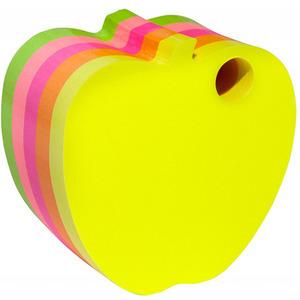 DONAU Bloczek samoprzylepny jabłko kostka Kolory neonowe (1)
