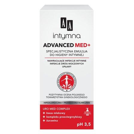 AA Intymna Advanced Med+ Specjalistyczna emulsja do higieny intymnej (2)