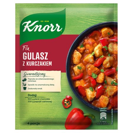 KNORR Fix Gulasz z kurczakiem (1)