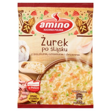 AMINO Zupa błyskawiczna żurek po śląsku z boczkiem czosnkiem i chrzanem (1)
