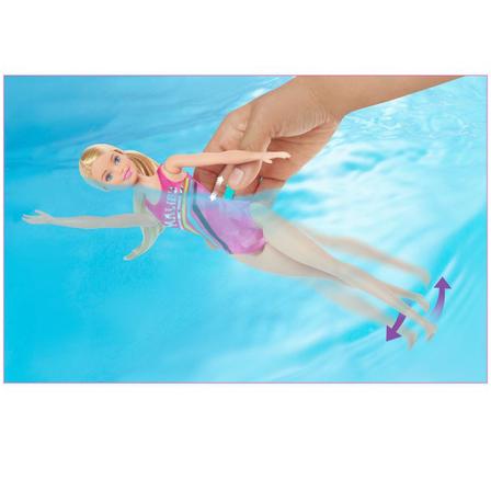 BARBIE Dreamhouse Zestaw Lalka Pływaczka z pieskiem GHK23 (5)