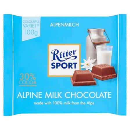 RITTER SPORT Czekolada mleczna alpejska (1)