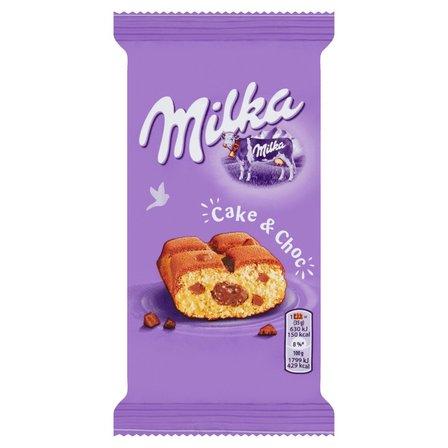 MILKA Cake&Choc Ciastko biszkoptowe z kawałkami czekolady i nadzieniem czekoladowym (1)