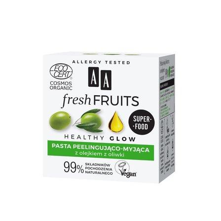 AA Fresh Fruits pasta peelingująco-myjąca z olejkiem z oliwki ORGANIC (1)