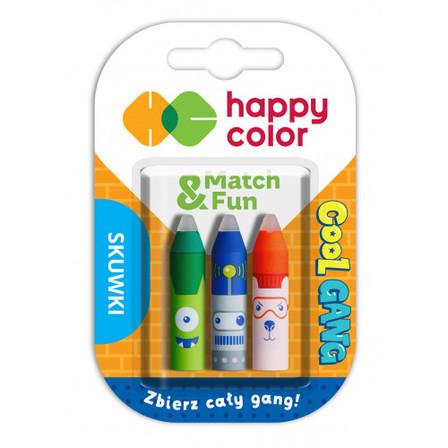 HAPPY COLOR Cool Gang Skuwki z gumką do długopisów wymazywalnych (1)