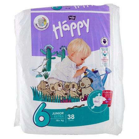 BELLA Baby Happy Pieluszki jednorazowe 6 junior extra (16+ kg) (1)