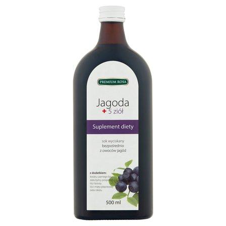 PREMIUM ROSA Sok wyciskany bezpośrednio jagoda + 5 ziół (2)