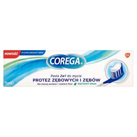 COREGA Pasta 2w1 do mycia protez zębowych i zębów miętowy smak (2)