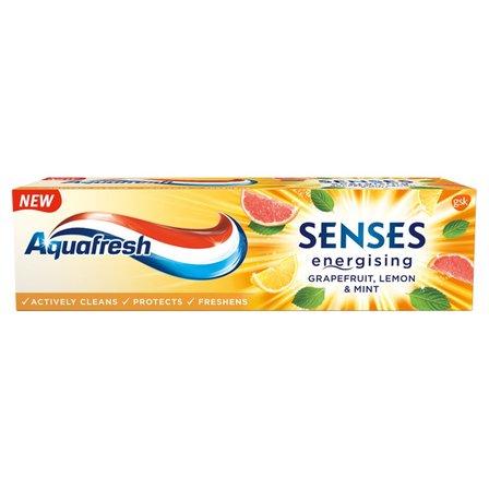 AQUAFRESH Senses Energising Grapefruit Lemon & Mint Pasta do zębów z fluorkiem (1)