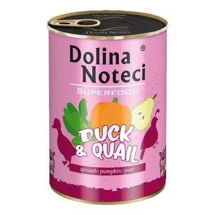 DOLINA NOTECI Superfood Karma dla dorosłych psów Kaczka i przepiórka (1)