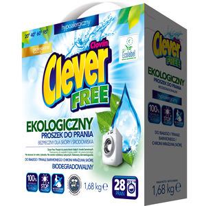 CLEVER Free Ekologiczny proszek do prania (28 prań) (1)