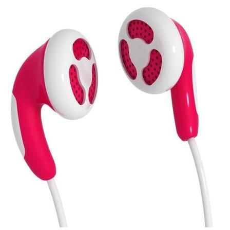 MAXELL Słuchawki douszne Colour Budz czerwone (1)