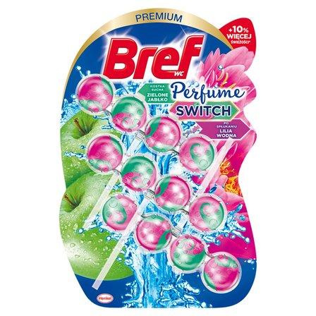 BREF WC Perfume Switch Zawieszka myjąco-zapachowa do muszli WC zielone jabłko-lilia wodna 3 x 50 g (1)
