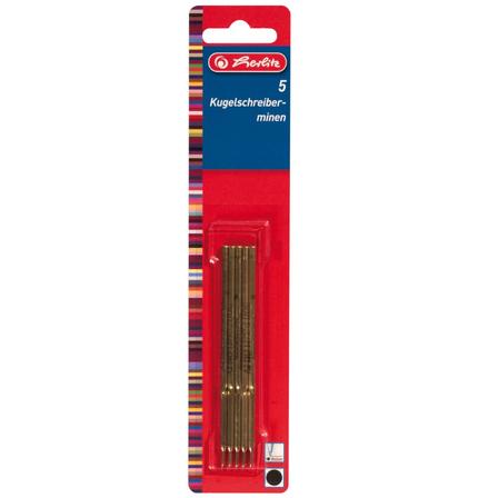 HERLITZ Wkłady do długopisu 8608002 niebieskie (1)