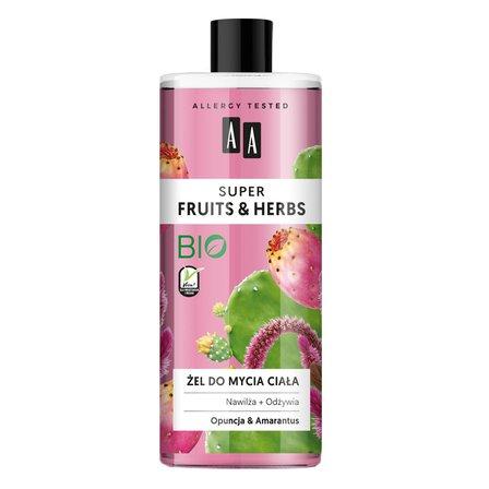 AA Super Fruits&Herbs żel do mycia ciała opuncja&amarantus (1)