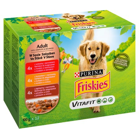FRISKIES Vitafit Adult Karma dla psów (12 x 100 g) (1)