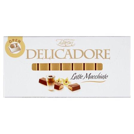BARON Delicadore Batoniki z czekolady mlecznej z nadzieniem o smaku latte macchiato (1)