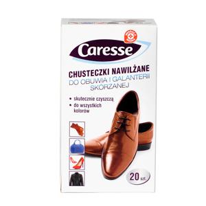 WIODĄCA MARKA Caresse Chusteczki nawilżane do czyszczenia obuwia i galanterii skórzanej (1)