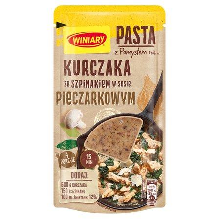 WINIARY Pasta z pomysłem na... kurczaka ze szpinakiem w sosie pieczarkowym (1)