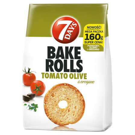7 DAYS Bake Rolls Chrupki chlebowe o smaku pomidora oliwki i oregano (1)