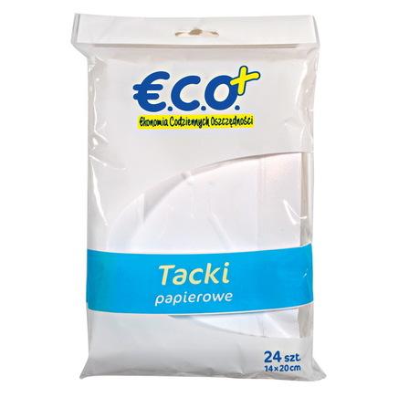 ECO+ Tacka papierowa prostokątna (1)