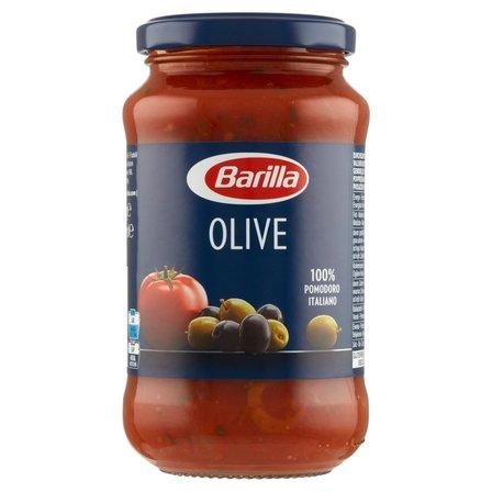 BARILLA Olive Sos do makaronu pomidorowy z zielonymi i czarnymi oliwkami (2)