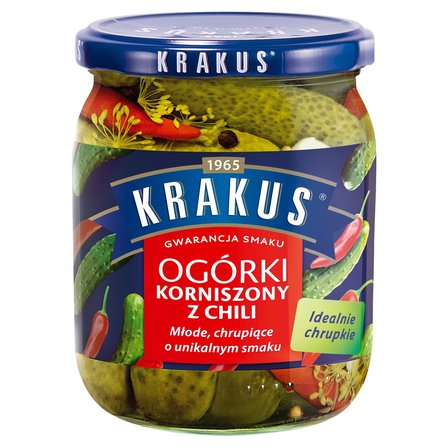 KRAKUS Ogórki korniszony z chili (1)
