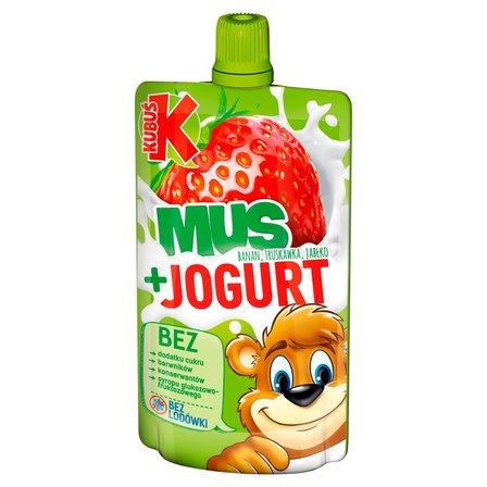 KUBUŚ Mus + Jogurt banan truskawka jabłko (1)