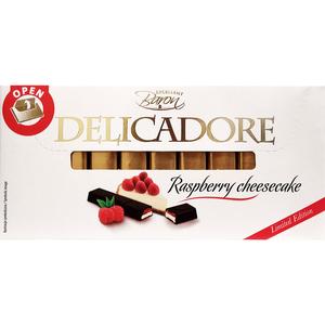 BARON Delicadore Batoniki czekoladowe z nadzieniem o smaku sernikowym i malinowym (1)