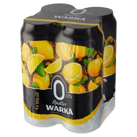 WARKA Radler Ciemne piwo bezalkoholowe z lemoniadą o smaku cytrynowym (4 x 500 ml) (1)