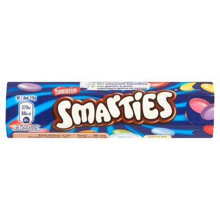 SMARTIES Mleczna czekolada w chrupiących cukrowych skorupkach (1)