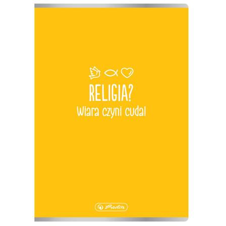 HERLITZ Soft Zeszyt miękki A5 kratka 60 kartek Religia (1)