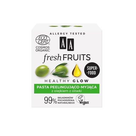 AA Fresh Fruits pasta peelingująco-myjąca z olejkiem z oliwki ORGANIC (2)