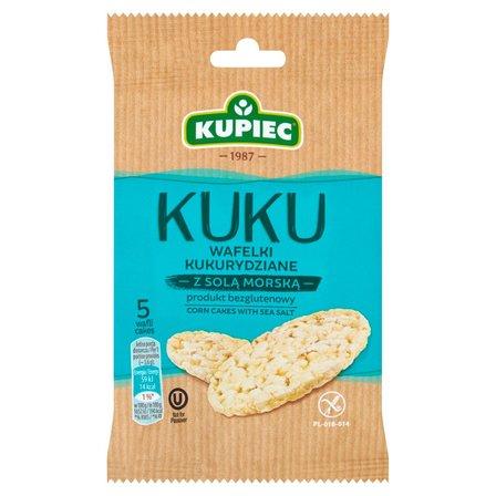 KUPIEC Kuku Wafelki kukurydziane z solą morską (5 sztuk) (1)