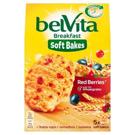 BELVITA Breakfast Ciastka zbożowe z żurawiną i rodzynkami (2)