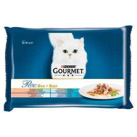 GOURMET Perle Karma dla kotów kolekcja duet rybny (4 x 85 g) (1)