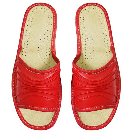 PABLO Kapcie damskie czerwone (2)
