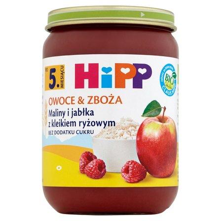 HiPP BIO Owoce & Zboża Maliny i jabłka z kleikiem ryżowym po 5. m-cu (2)