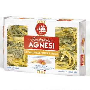 AGNESI Tagliatelle Paglia&Fieno Makaron jajeczny i jajeczny ze szpinakiem (1)