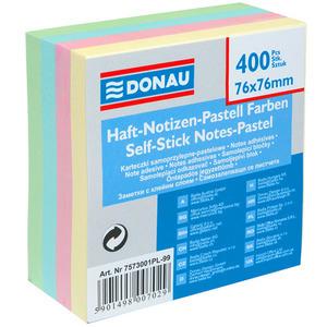 DONAU Kostka z karteczkami samoprzylepnymi Pastelowe kolory 76x76mm (1)