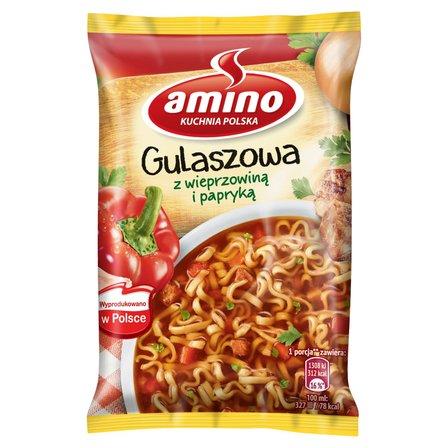 AMINO Zupa błyskawiczna gulaszowa z wieprzowiną i papryką (1)